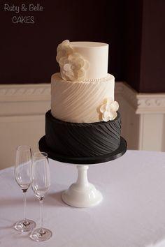 This article sings about the black wedding cake trend and we could agree more! Check out our Silk Pleats design - The Daily Meal