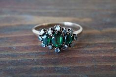 1900s Antique Victorian Emerald Doublet and by TheRustedAnchor
