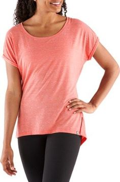 The North Face Women's EZ Dolman Top Burnt Coral Melange XS