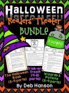 Halloween Readers' Theater: Are you looking for something fun to do for Reading during the week of Halloween? This set of three Readers' Theaters will certainly spice things up!