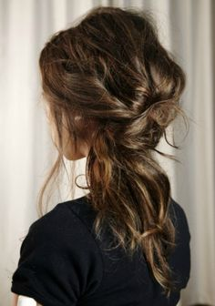 Messy <3 I wish my hair would look like that