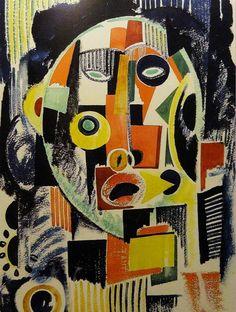 """Alternate book cover art design for Sybil by Flora Rheta Schreiber. """"Red Ocean Blue"""", by Amadeo de Souza-Cardoso Art And Illustration, Modern Art, Contemporary Art, Inspiration Art, Book Cover Art, Art Design, Sculpture Art, Amazing Art, Art Projects"""
