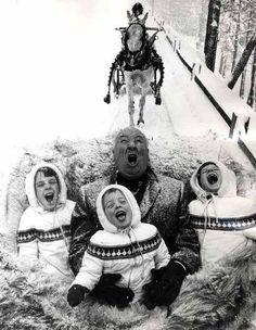 Alfred Hitchcock e filhos