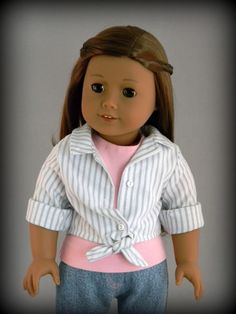 Hiking play shorts outfit for 18 American Girl doll by BringingJoy, $28.00