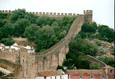 A still-inhabited medieval walled city...Obidos, Portugal.  We walked that wall.