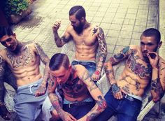 men with tattooed arms - I love having options :)