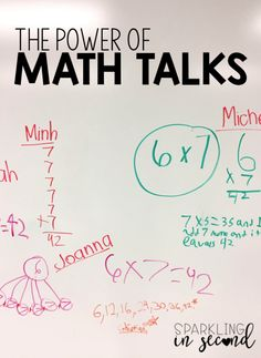 Math talks are power