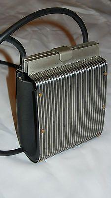 Wendy Stevens Stainless Steel Small Handbag Purse Rubber Strap