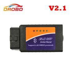 [Visit to Buy] Works on Android Torque Elm327 Bluetooth V2.1 ELM 327 Code Reader OBD2 / OBD II Auto Car Diagnostic Tool Scanner OBDII #Advertisement