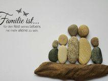 Bild aus Kieselsteinen *Familie ist .... *