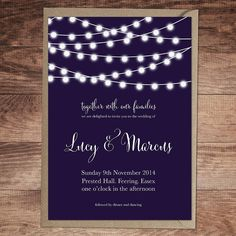 nightgarden wedding invitation and stationery by russet and gray wedding invitations | notonthehighstreet.com