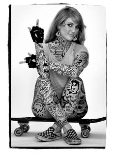 Pretty-Girls-Skate-and-Tattoos-Pin-Ups-by-Mike-Giant-4