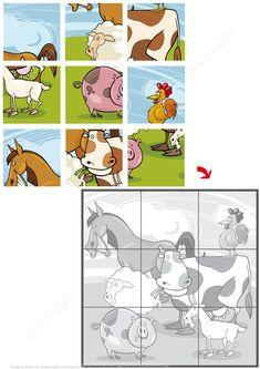 Farm Animals Jigsaw Puzzle | Super Coloring