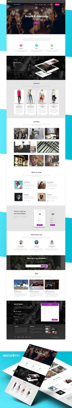 Hestia Pro is a material design #WordPress theme for #webdev small #business and #startup website download now➩ https://themeforest.net/item/hestia-material-design-startup-wordpress-theme/18615123?ref=Datasata