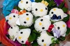 OMG I'm gonna die of cuteness!! Hello Kitty Flowers!