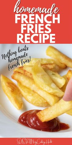 Our best-ever restaurant style homemade french fries recipe ensures a deliciously crispy outside with a soft, tasty inside. French Fries At Home, Cooking French Fries, Best French Fries, French Fries Recipe, Homemade Fries, Homemade French Fries, Grilled Pork Shoulder, Fresh Potato, Vegetable Recipes