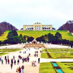 Schonbrunn Palace, Vienna, Austria. Instagram: @queenetjuin  #schonbrunnpalace #vienna #austria #europe #europe_vacations #nature #sunny #landscape #building #art #instaart #instadesign #aroundtheworld #beautifulplace...