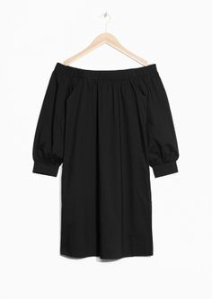 Off-Shoulder Dress - Black - & Other Stories