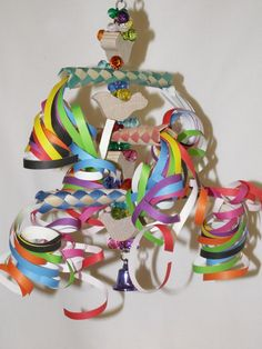 Some bird toy ideas for you. Be mindful of parts that your birds can get snagged in - loose threads for example.For excellent parrot foraging information and easy make-your-own parrot toys, make sure to check out Kris Porter's fantastic site,Parrot Enrichment. It's chockfull of great ideas on toys, foraging, training, nutrition and more.
