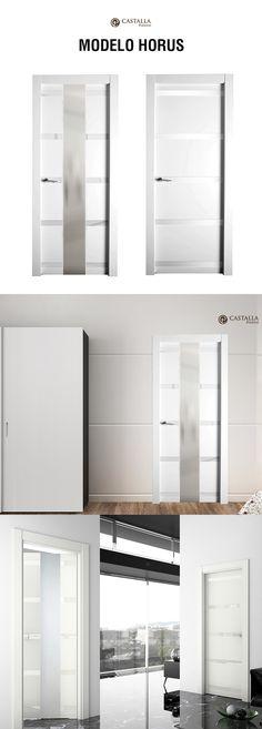 Puerta de interior con cristal Modelo HORUS Puertas Castalla | Glass interior door HORUS. Castalla Doors