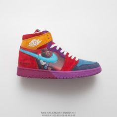 purchase cheap 27b32 4fe9d Nike Air Jordan Aj1 Joe 1 Suede Pirate King Basket Sneaker