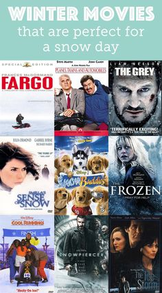 Sometimes the best way to get through a snow storm is a winter movie marathon!