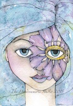 "Fairy Birthmarks. ""Nixie"" Watercolor & Pencil. #thedaydreamerie"