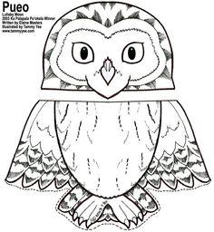 Paper Bag Puppet- Owl Printable
