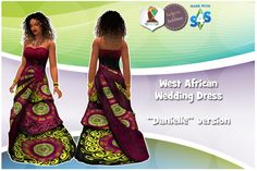 West African Wedding Dress at The African Sim • Sims 4 Updates