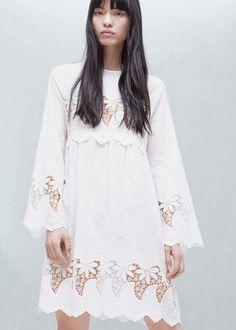 026105e05a Embroidered dress - Woman