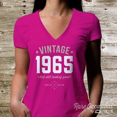 50th Birthday 1965 Shirt 1965 Legend. Womens door RareOccasions