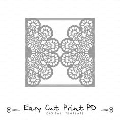 Die cut paper card with roses laser cut wedding invitation card wedding invitation lace crochet doily pattern card template svg dxf dwg ai eps png pdf lasercut instant download silhouette cameo stopboris Choice Image