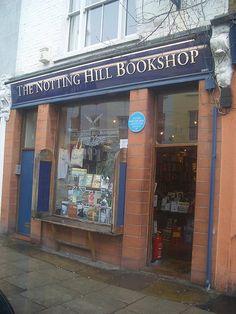 la librairie du film :  Coup de foudre a Nothing Hill sur Blenheim Crescent, tout prés de Portobello