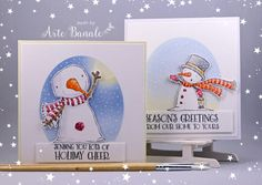 The Holiday Sale ends tonight at midnight. I'll leave you with a few more inspiring cards from the design team and guest designers. They always create such amazing cards and they need to be shared! Snowman Cards, Holiday Sales, Snow Globes, Bookends, Cheer, Christmas Cards, Card Making, Greeting Cards, Seasons