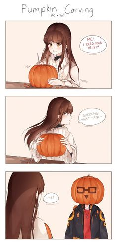 Mystic Messenger- Seven (Choi Saeyoung /Luciel)(707) x Mc #Otome #Game #Anime. Susanghan Messenger. Happy Halloween!