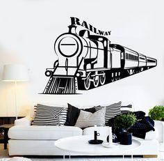Vinyl Wall Decal Railway Train Boy Room Kids Art Stickers Mural (367ig)
