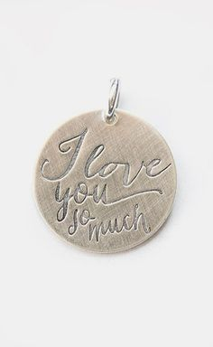 Sterling Silver Expressions 'I Love You So Much' Charm