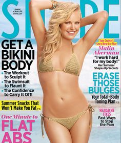 Malin Akerman in a barely-there bikini on the June cover of SHAPE