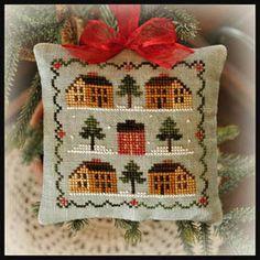 2012 Ornament 12 - Saltbox Village - Cross Stitch Pattern