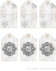 Free Christmas Printables.  Gorgeous French themed Christmas gift tags. ♥