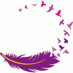 Silhouette Design Store: feather with birds
