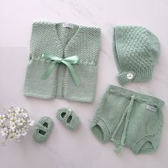 mint green sets at weebits. overnappy pants, her waistcoat, bonnet and mj shoes