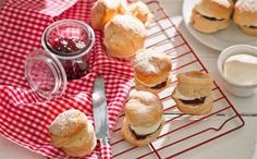 This easy and basic scone recipe is absolutely delicious. Smothered with thick cream and a generous serving of jam, a batch of these golden delights makes a fabulously fruity afternoon tea treat. Tea Recipes, Sweet Recipes, Recipies, Pikelet Recipe, Basic Scones, High Tea Food, British Dishes, Afternoon Tea, Delicious Desserts