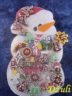 Výsledek obrázku pro pernikovy adventni kalendar Sugar, Cookies, Deco, Desserts, Christmas, Advent, Food, Tailgate Desserts, Yule