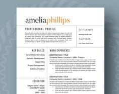 Modern Resume Layout Modern Resume Template  The Claire  Modern Resume Template Modern .