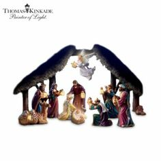 Thomas Kinkade Light From Within Nativity Figurine Collection -  	     	              	View Sale Price   Relive the story of Christ's birth in a unique way with this first-of-a-kind illuminated Thomas Kinkade lighted nativity collection, exclusively from Hawthorne Village. Your collection begins with Issue One, Mary & Baby Jesus. Soon, your collection...