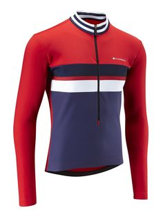 Men s Thermal Jersey - Sport Red Midnight Blue Fahrradbekleidung 0fbf68bc5