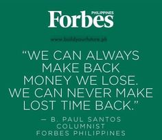 Use your time wisely.  PM for your free #SunLife financial planning.  Contact 0915-8687576 or 0922-978-5661. #FinancialAdvisor www.buildyourfuture.ph #SunLifePH #VUL #Insurance #Investment #FinancialFreedom #BrighterLife