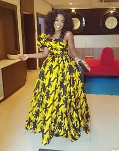 Yellow African Print Dress/Yellow Ankara Dress/African Clothing/African Dress/African Fabric Dress/A African Maxi Dresses, African Fashion Ankara, African Inspired Fashion, Latest African Fashion Dresses, Ankara Dress, African Dresses For Women, African Print Fashion, Africa Fashion, African Wear