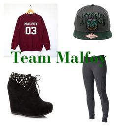 """Team Malfoy"" by elizabeth-b-a ❤ liked on Polyvore featuring Roxy"